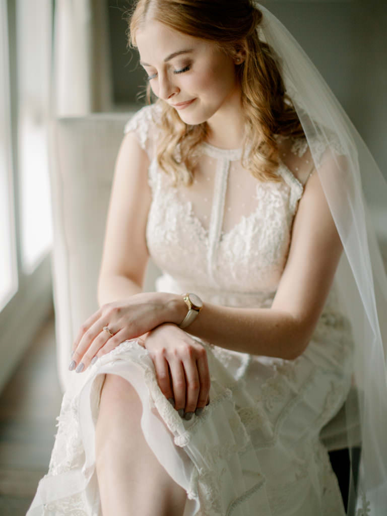bride near the window