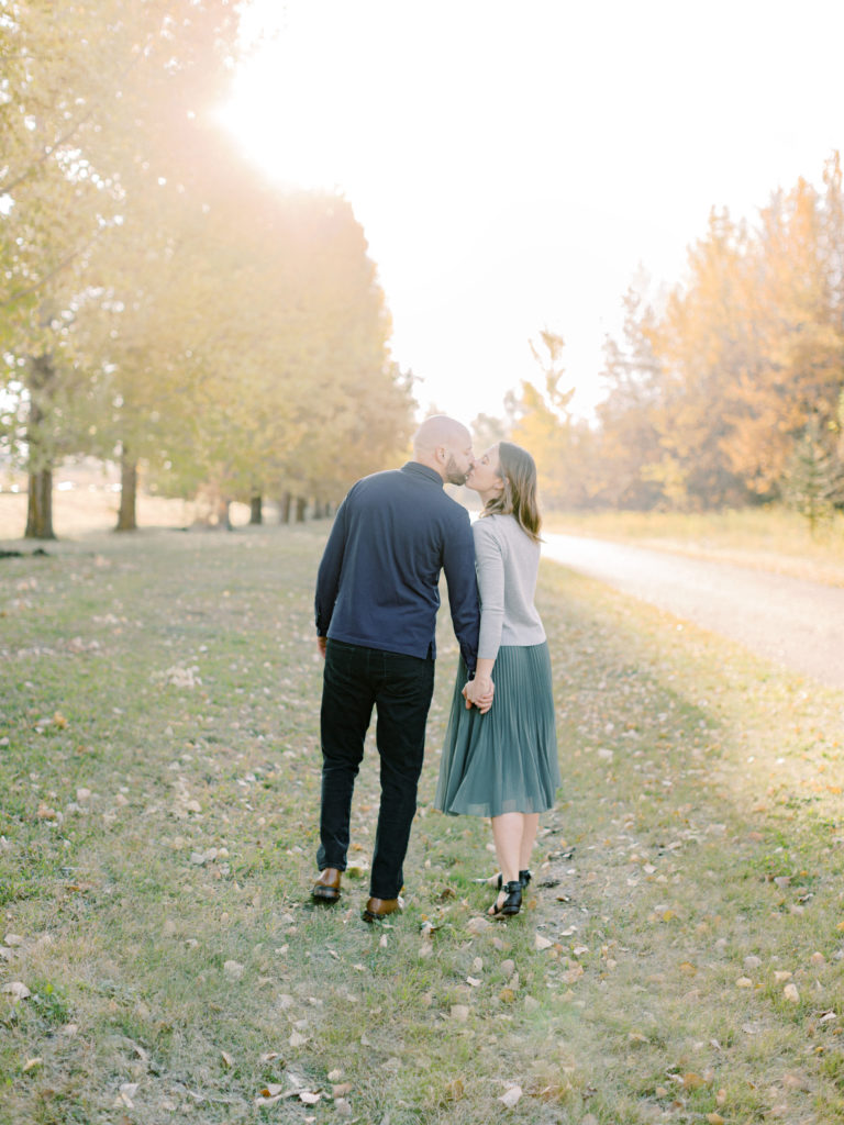 morning fall engagement session