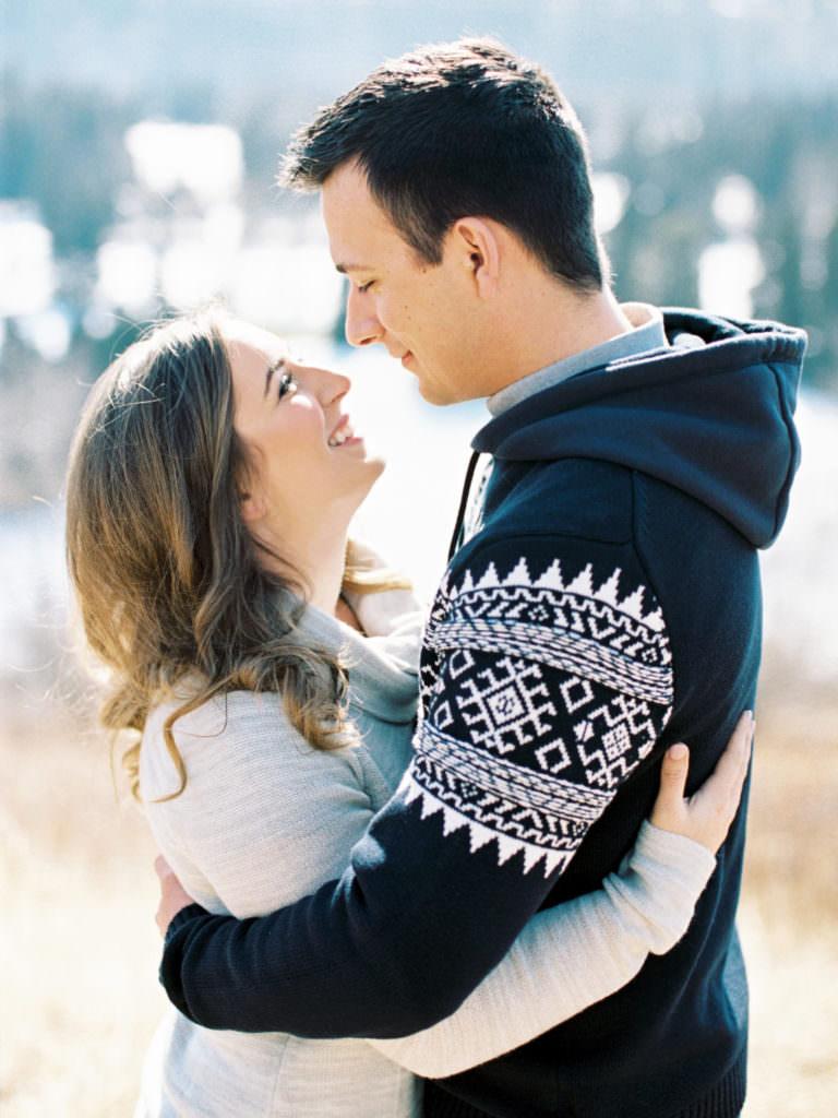 beautiful couple engagement session in edmonton