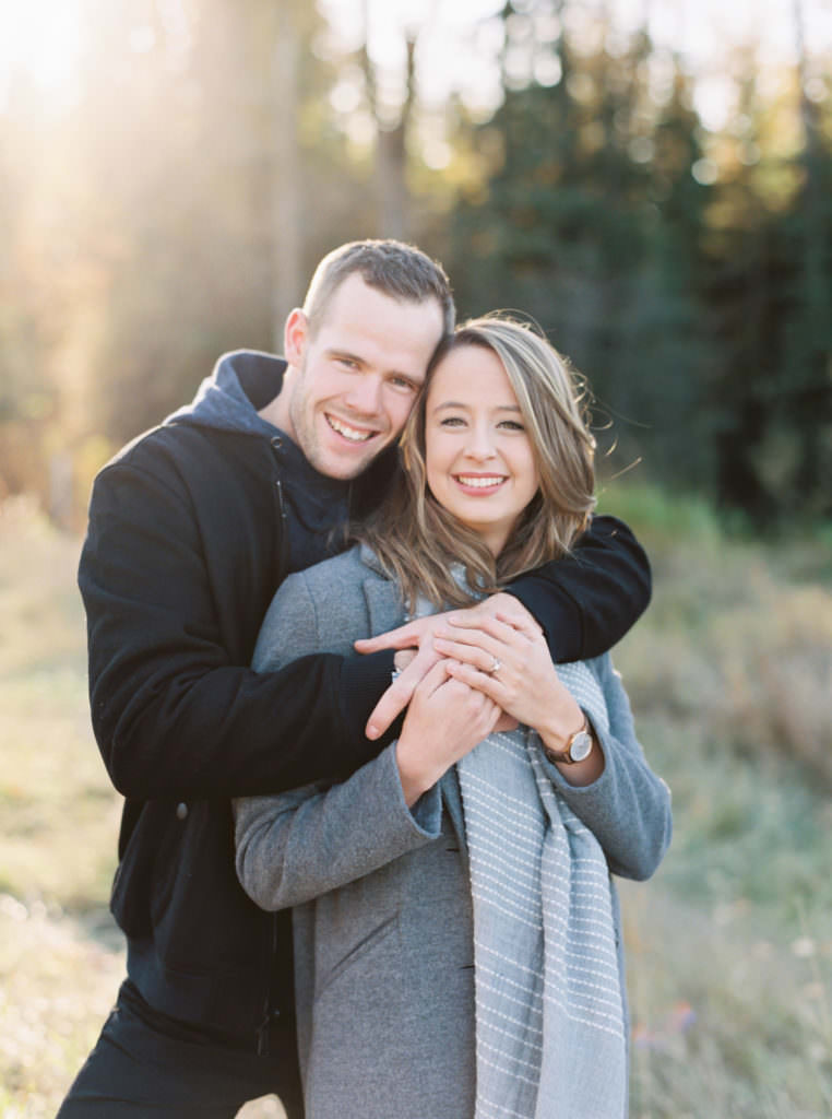 engagement session in mactaggart edmonton