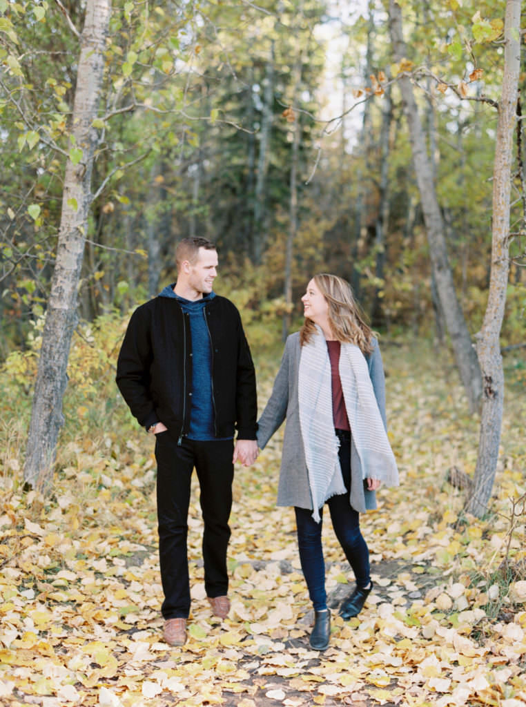 fall engagement session in edmonton