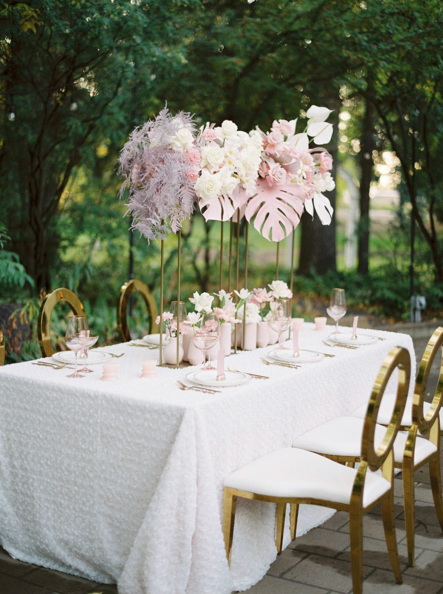 table setup at Bronte Bride's True-to-Hue Workshop